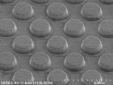 SEM S4700, 1um Gold encapsulated NiFe particles