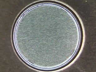 A typical Be window from the ARC production line (top view)