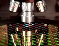 "Figure 10. Automated die/wafer inspection informs the die ""picker"" as to which die should be excluded"