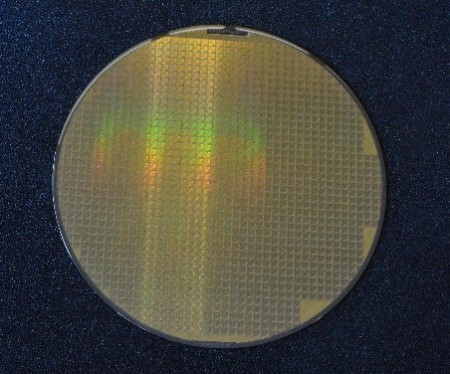 "Figure 6. Patterned 6"" wafer after ARC mask design has been completed and customer verification has been received"